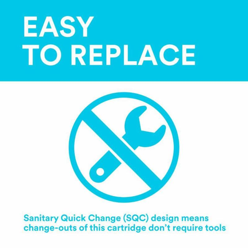 Easy to replace water filter cartridge